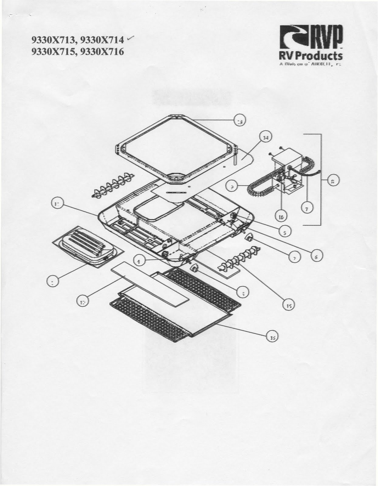 Coleman Rv Air Conditioner Parts Manual